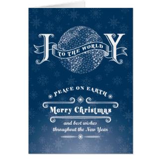 Snowflake Joy to the World Christmas Card