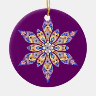 Snowflake Kaleidoscope Purple Ornament