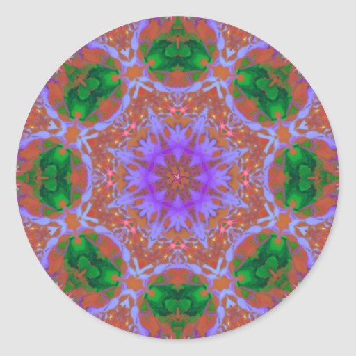 Snowflake_Kaleidoscope resized.PNG Classic Round Sticker
