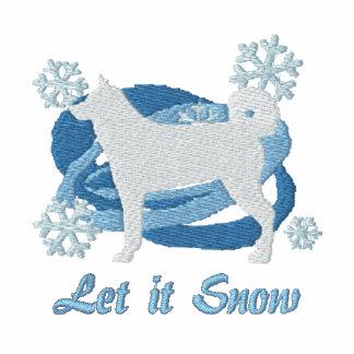 Snowflake Karelian Bear Dog Embroidered Sweatshirt