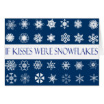 Snowflake Kisses Greeting Card