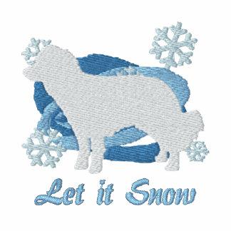Snowflake Kooikerhondje Embroidered Hoodie
