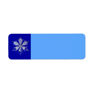 Snowflake Label
