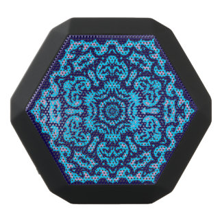 Snowflake Lace Custom Black Bluetooth Speaker
