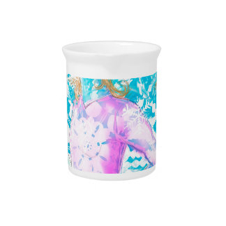 Snowflake ladies beverage pitcher