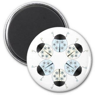 Snowflake Ladybug Magnets