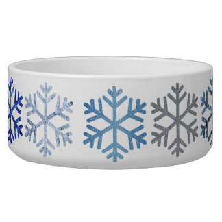 Snowflake Large Pet Bowl