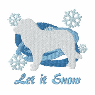 Snowflake Leonberger Embroidered Sweatshirt