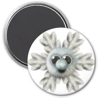 Snowflake Locker Magnets,  Back to school 3 Inch Round Magnet