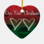 Snowflake Love Ornament - Our First Christmas