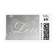 Snowflake Love Postage Stamps