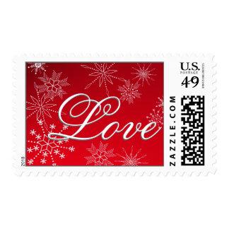 Snowflake Love /Red Postage