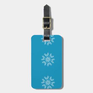 Snowflake Luggage Tag w/ leather strap