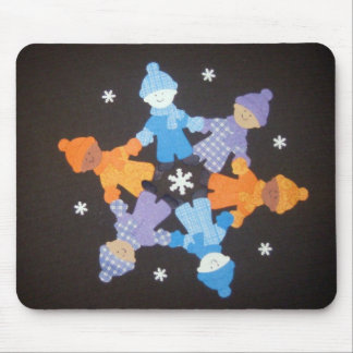 Snowflake made of Children! Mousepad