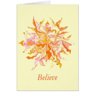 snowflake magic greeting greeting card