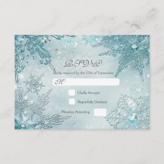Snowflake Magic Winter Wonderland RSVP card