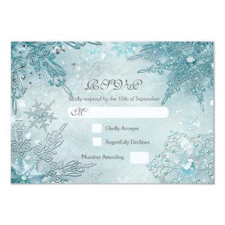 Snowflake Magic Winter Wonderland RSVP card
