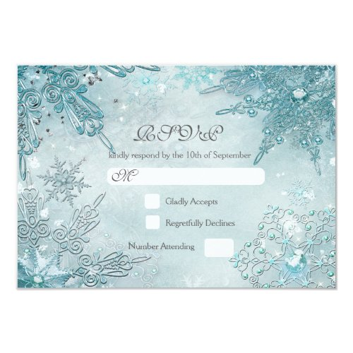 White Winter Themed Wedding Invitations - Home