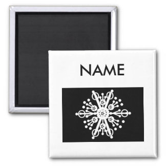 Snowflake 2 Inch Square Magnet