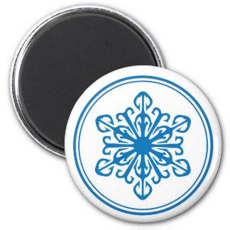 Snowflake Magnet - Blue