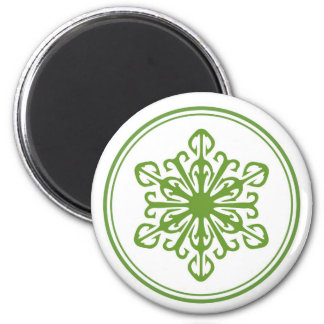 Snowflake Magnet - Green