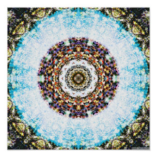 Snowflake Mandala 3 Poster