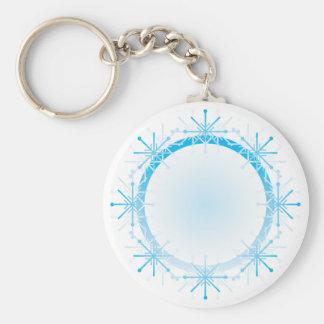Snowflake Mandala Keychain