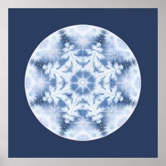 Snowflake Mandala Poster print