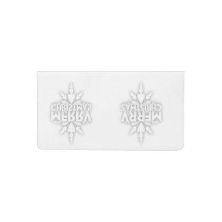 Snowflake Merry Christmas Checkbook Cover