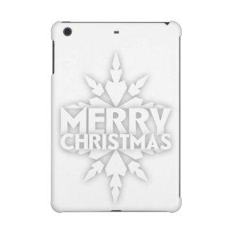 Snowflake Merry Christmas iPad Mini Case