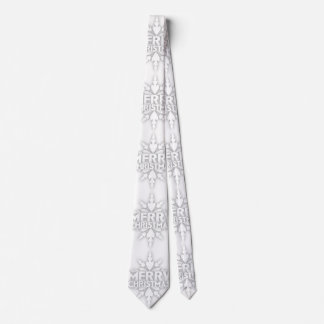 Snowflake Merry Christmas Neck Tie