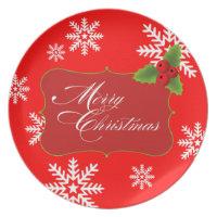 Snowflake Merry Christmas Party