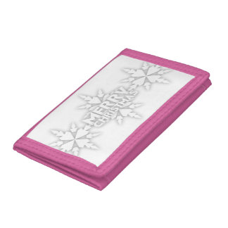 Snowflake Merry Christmas Trifold Wallet