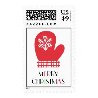 Snowflake Mitten Postage Stamps
