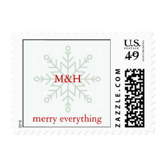 Snowflake Monogram Postage
