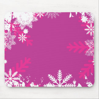 snowflake mouse pad