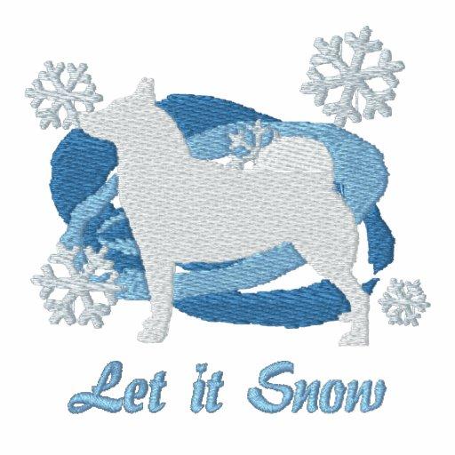 Snowflake Norwegian Buhund Hoodie