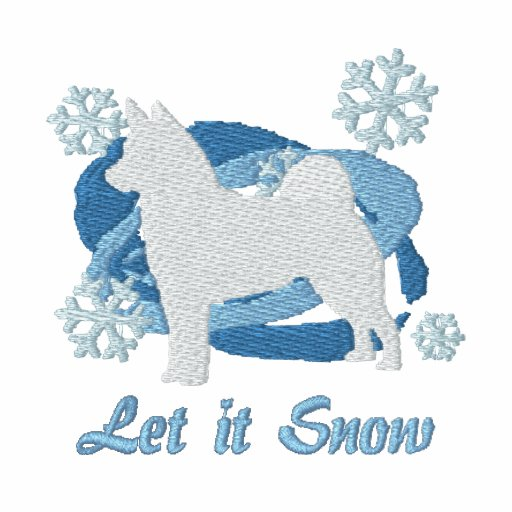 Snowflake Norwegian Elkhound Embroidered Hoodie