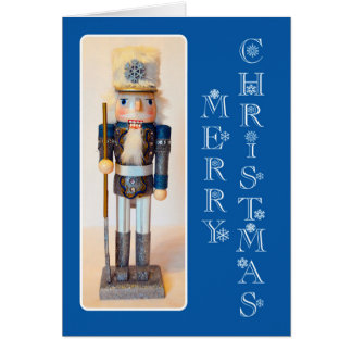 Snowflake Nutcracker Merry Christmas Card