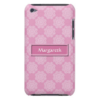 Snowflake on Pink Barely There iPod Cover