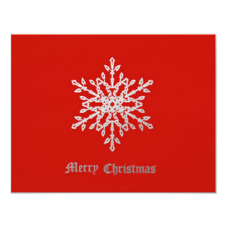 Snowflake on red card