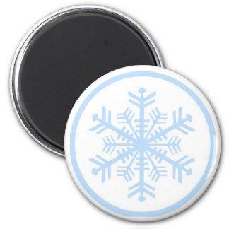 Snowflake on round magnet