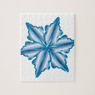 Snowflake On White Jigsaw Puzzle
