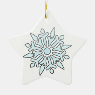 Snowflake Double-Sided Star Ceramic Christmas Ornament