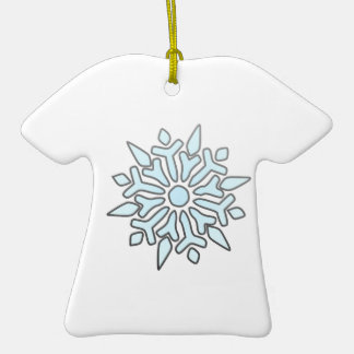 Snowflake Double-Sided T-Shirt Ceramic Christmas Ornament