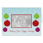 Snowflake Ornament Holiday Template Greeting Card
