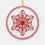 Snowflake Ornament - Red