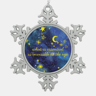 Snowflake Ornament STARS the little prince QUOTE