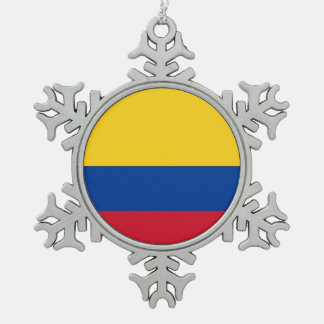 Snowflake Ornament with Colombia Flag