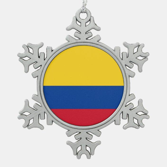 Snowflake Ornament With Colombia Flag Zazzle Com